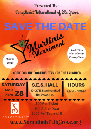 Martinis and Merriment Save the date