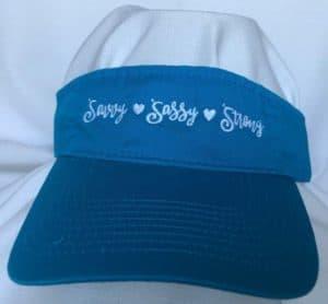 Blue Visor - Sassy, Savvy, Strong
